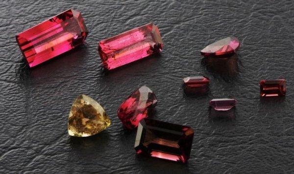 16: Tourmaline Parcel 9 Gemstones 18.76ctw DK473