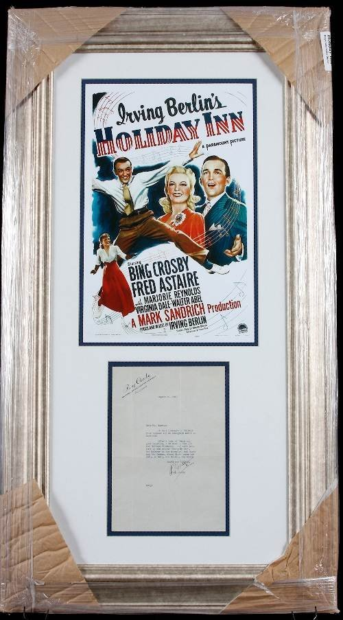 21: Bing Crosby Autographed Holiday Inn Piece