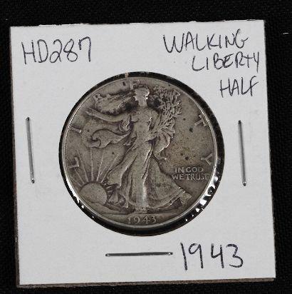 23: 1943 Walking Liberty Half Dollar HD287