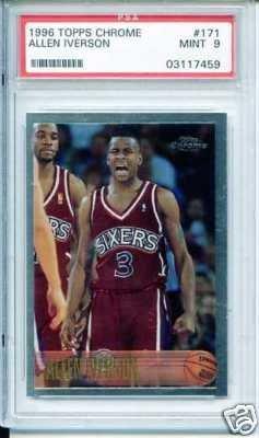 25: 1996 Allen Iverson Rookie Basketball Card