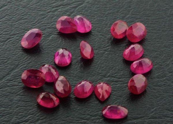 27: Ruby Parcel 17 Gemstones 20.10ctw DK245