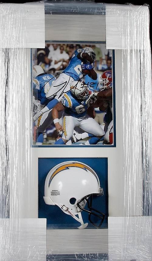 29: LaDainian Tomlinson Autographed Mini Helmet Display