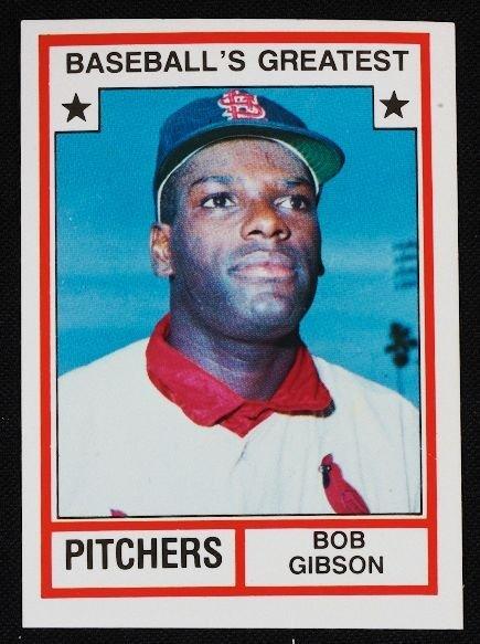 33: Vintage Baseball Card '83 TCMA Bob Gibson C110