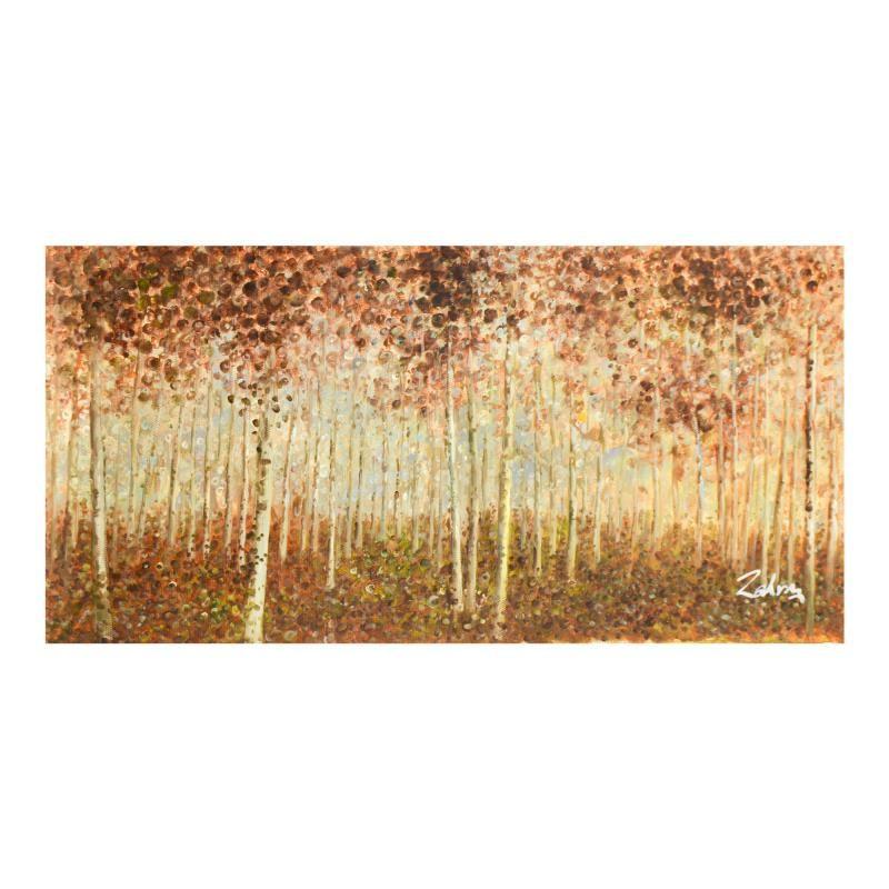 "Zahra, Original Oil Painting on Canvas (50"" x 26""),"