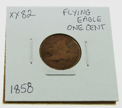 1: 1858 Flying Eagle One Cent XX82