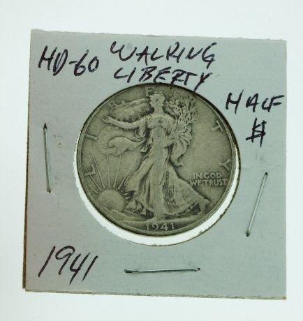 2: 1941 Walking Liberty Half Dollar HD60