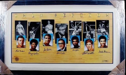 9: UCLA Legends Litho X7 - John Wooden, Jabbar, Walton