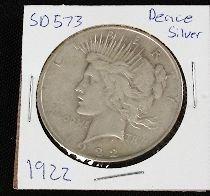 17: 1922 Peace Silver Dollar SD573