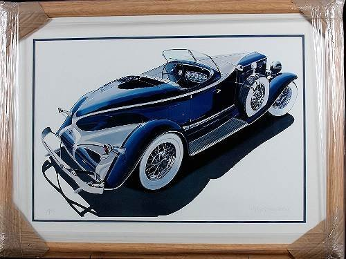 18: Cleworth - 1933 Auburn Framed Lithograph