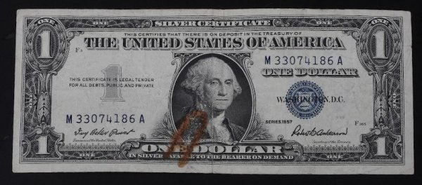 23: 1957 Silver Certificate $1.00 PM118