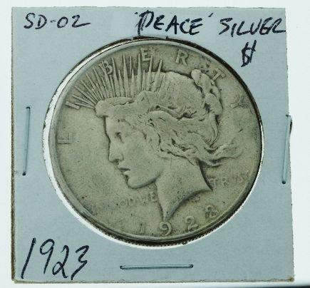 27: 1923 Peace Silver Dollar SD02