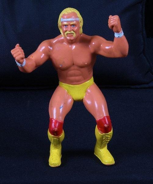 "202: Vintage 1980's Hulk Hogan 7"" Wrestling Figurine"