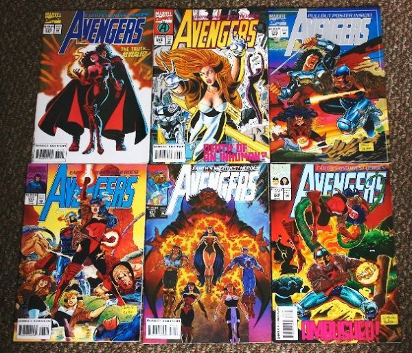3: Avengers Vintage Comic Books Lot of (6) CB78
