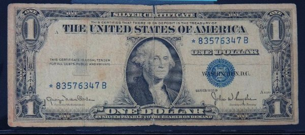 9: 1935 $1.00 Washington Silver Certificate PM1103