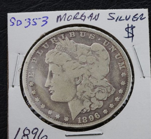 13: 1896 Morgan Silver Dollar SD353