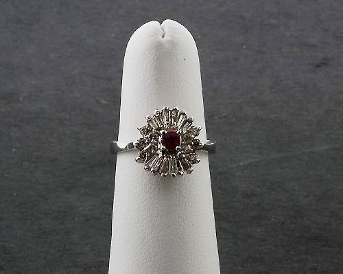 16: Ladies Ruby Diamond Ring .60ctw - DF4