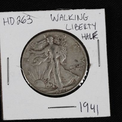 24: 1941 Walking Liberty Half Dollar HD263
