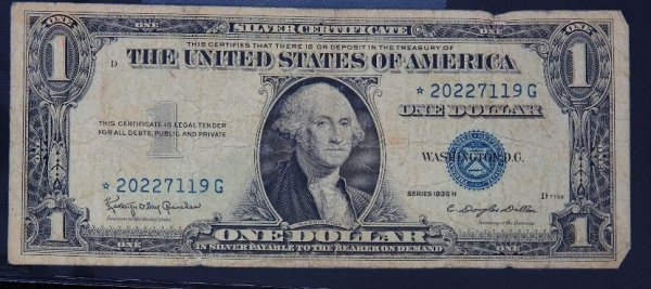 25: 1935 $1.00 Washington Silver Certificate PM1091