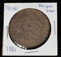 14: 1881 Morgan Silver Dollar SD551