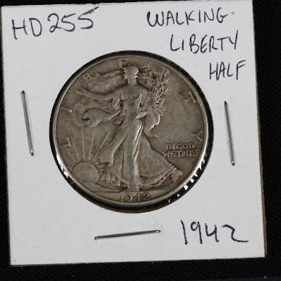 15: 1942 Walking Liberty Half Dollar HD255