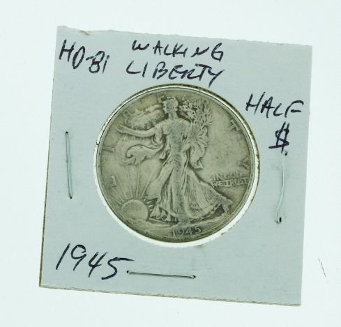 22: 1945 Walking Liberty Half Dollar HD81