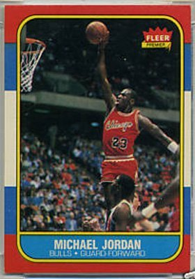 23: 1986 Fleer Michael Jordan Rookie Basketball Card