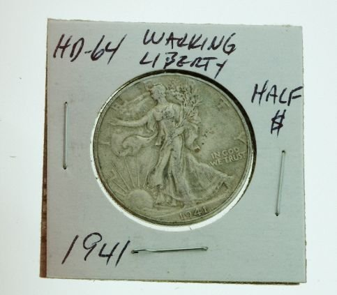 25: 1941 Walking Liberty Half Dollar HD64