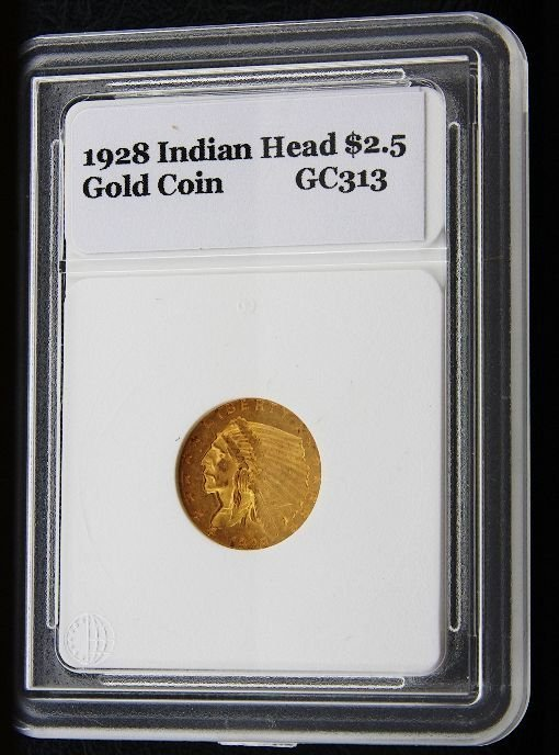 5: 1928 Indian Head $2.5 Gold Coin GC313
