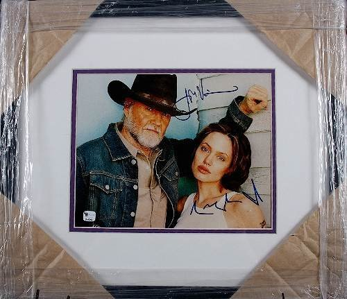 1: Jon Voight/Angelina Jolie Autographed Photo Display