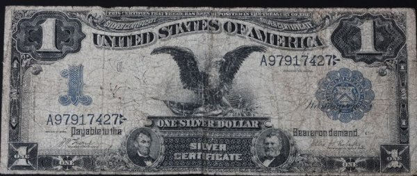 10: 1899 Black Eagle $1 Silver Certificate Bill PM50