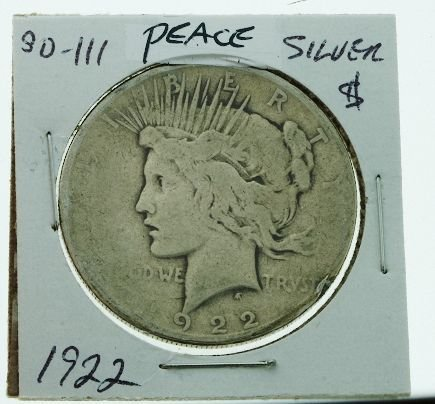 16: 1922 Peace Silver Dollar SD111
