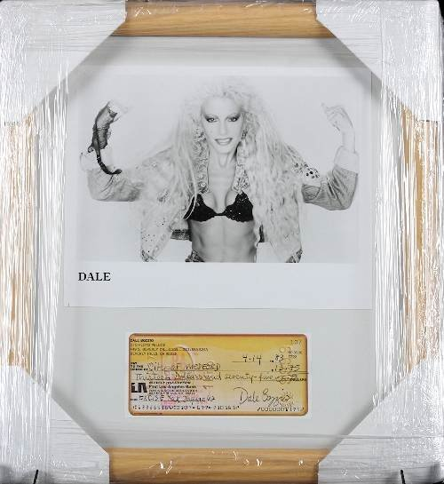 26: Dale Bozzio Autographed Photo Check Collage