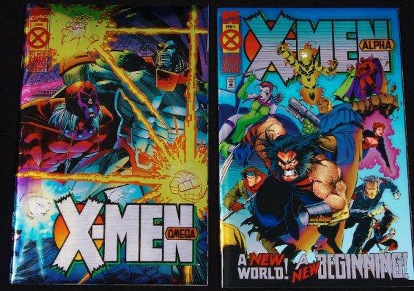 4: The X-Men Alpha Omega Foil Vintage Comic Books CB33