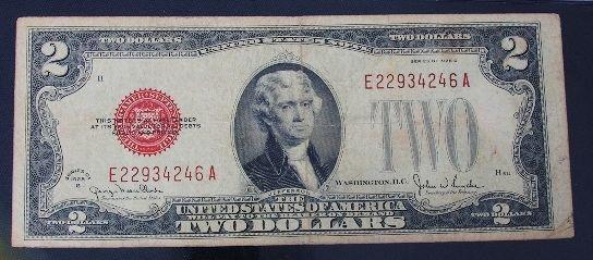 8: 1928 $2.00 Jefferson Red Seal Bill PM170