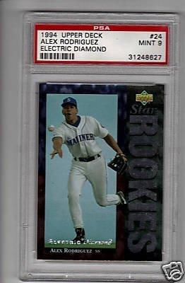 19: Alex Rodriguez 1994 Rookie Baseball Card PSA 9