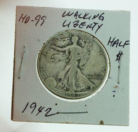 20: 1942 Walking Liberty Half Dollar HD99