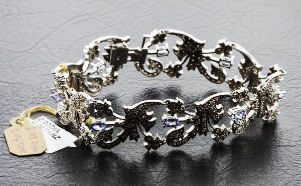 21: Ladies Diamond & Sapphire Bracelet 7.50cts - K34E69
