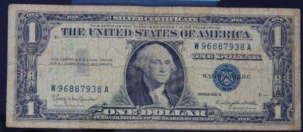 22: 1957 $1.00 Washington Silver Certificate PM1116
