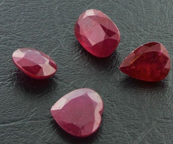 107: Ruby Parcel 4 Gemstones 29.42ctw DK9