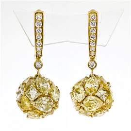 10.13 ctw Fancy Intense Yellow & Brilliant Diamond Drop