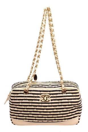 Chanel Cream Leather Marine Shoulder Bag