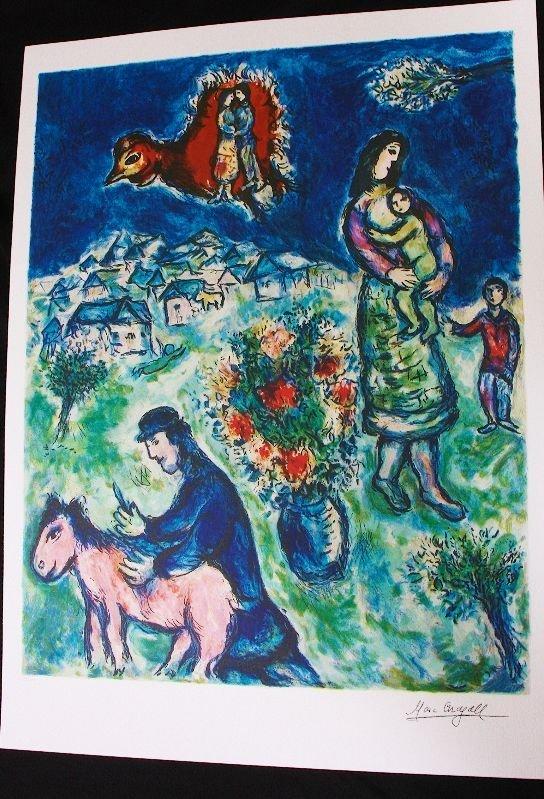 7: Marc Chagall - Sur La Route Du Village Print