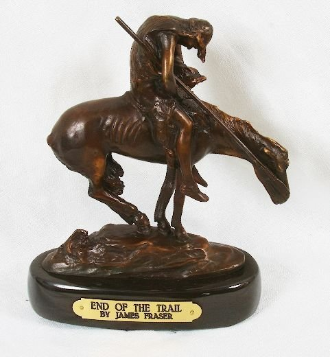 8: James Fraser Bronze Statue Reproduction - End of the