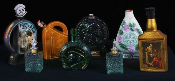 10: Vintage Whiskey Flask Lot of (8) - GG