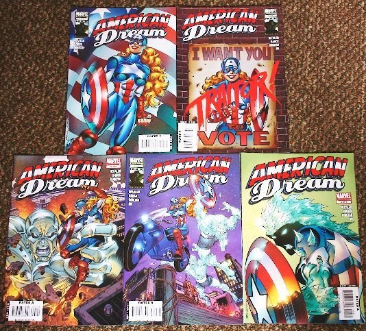21: American Dream Vintage Comic Books Lot of (5) CB104