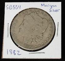 23: 1882 Morgan Silver Dollar SD554