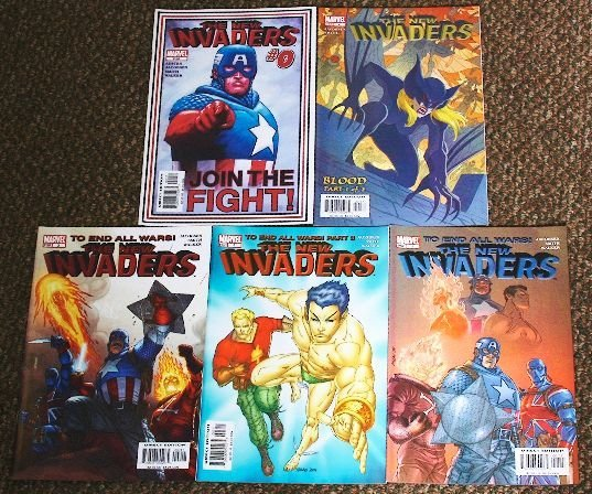 3: The New Invaders Vintage Comic Books Lot of (5) CB94
