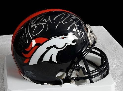 2: Champ Bailey/John Lynch Autographed Broncos Mini Hel