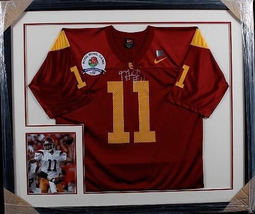 6: Matt Leinart Autographed Red USC Jersey w/ Patch
