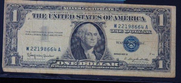 8: 1957 $1.00 Washington Silver Certificate PM1111